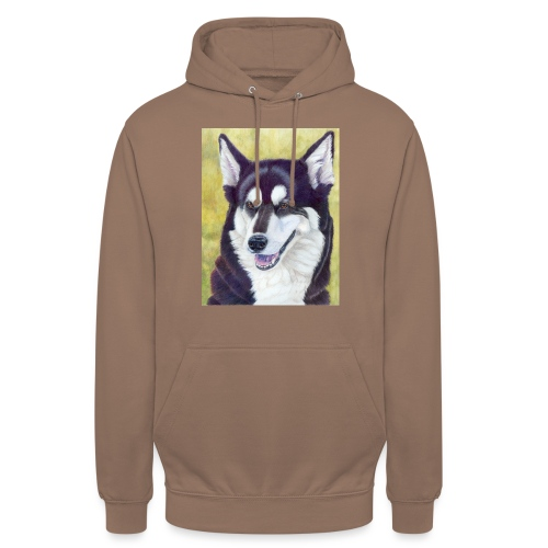 Siberian husky - Hættetrøje unisex