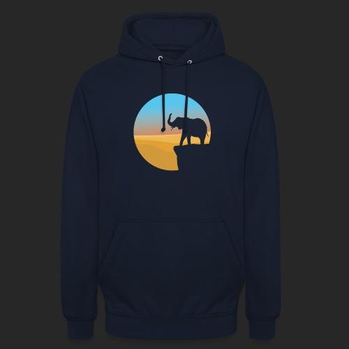 Sunset Elephant - Unisex Hoodie