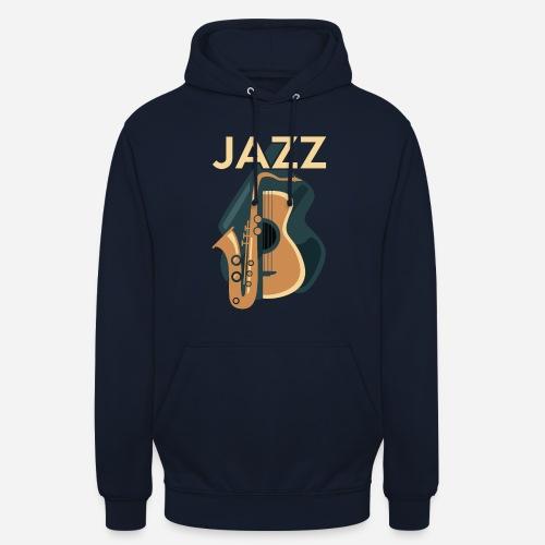 Jazz Gitarre mit Saxophon - Unisex Hoodie