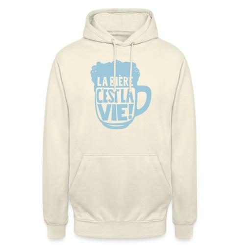 bière, la bière c'est la vie - Sweat-shirt à capuche unisexe