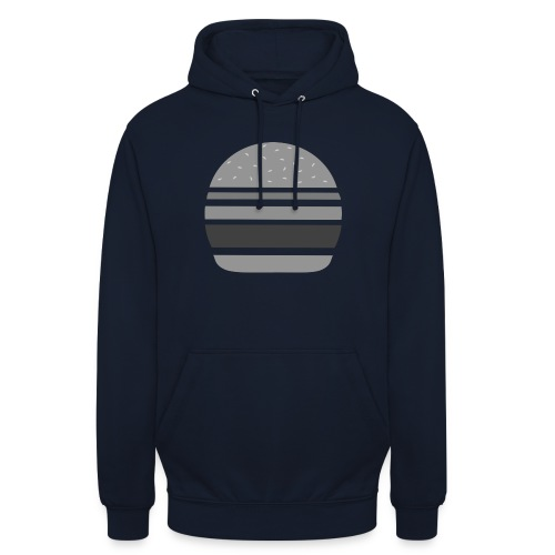 Logo_panhamburger_gris - Sweat-shirt à capuche unisexe