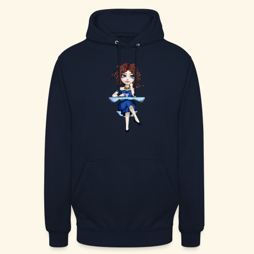 Blue Lady - Sweat-shirt à capuche unisexe