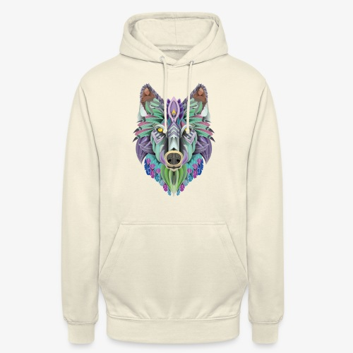totem of the wolf - Sweat-shirt à capuche unisexe