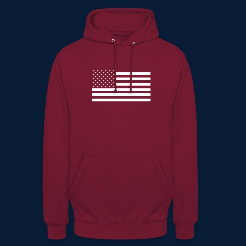 Stars and Stripes White - Unisex Hoodie