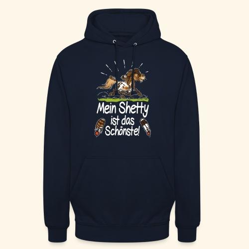 Mein Shetty das Schönste (Text weiss) - Sweat-shirt à capuche unisexe
