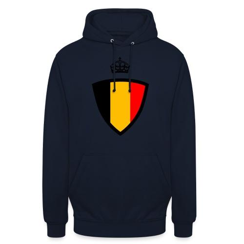 Koninkrijk belgië schild - Sweat-shirt à capuche unisexe