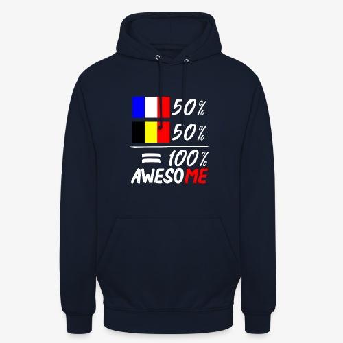 50% Frankreich 50% Belgien - Unisex Hoodie