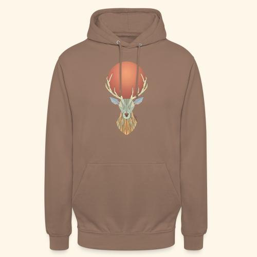 Roi Cerf Glacial - Sweat-shirt à capuche unisexe