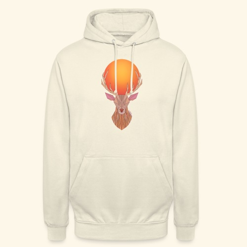 Roi Cerf Doré - Sweat-shirt à capuche unisexe