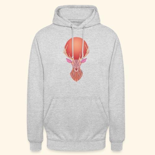 Roi Cerf Pamplemousse - Sweat-shirt à capuche unisexe