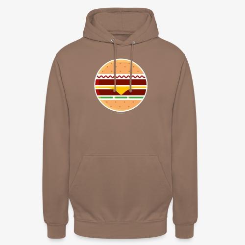 Circle Burger - Felpa con cappuccio unisex
