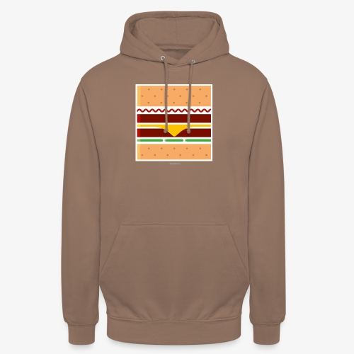 Square Burger - Felpa con cappuccio unisex