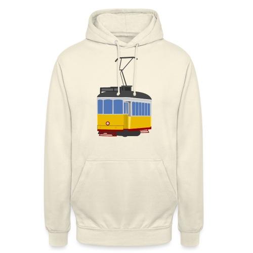 Tram car yellow - Unisex Hoodie