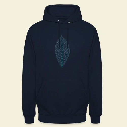 Feuille bleu Squelette - Sweat-shirt à capuche unisexe