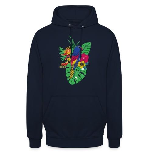 gaya flower parrot - Unisex Hoodie