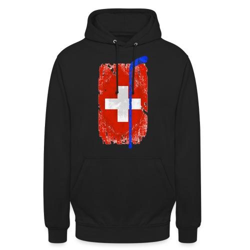 Schweizer Flagge Hockey - Unisex Hoodie