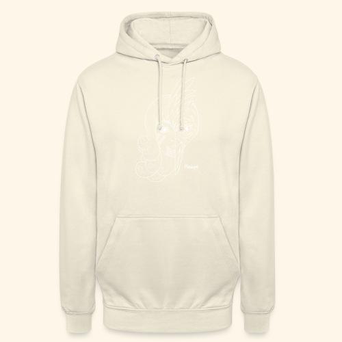 Mutation blanc - Sweat-shirt à capuche unisexe
