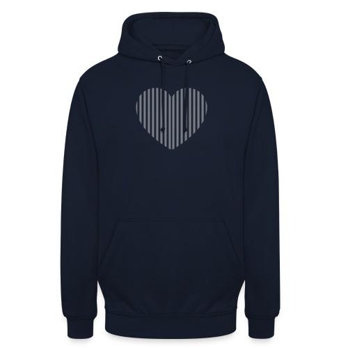 heart_striped.png - Unisex Hoodie