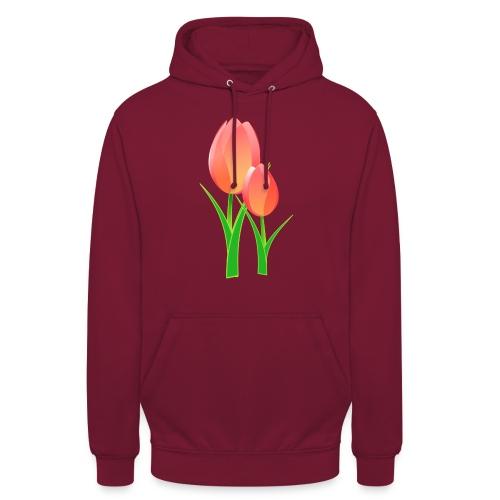 Belle fleur - Sweat-shirt à capuche unisexe