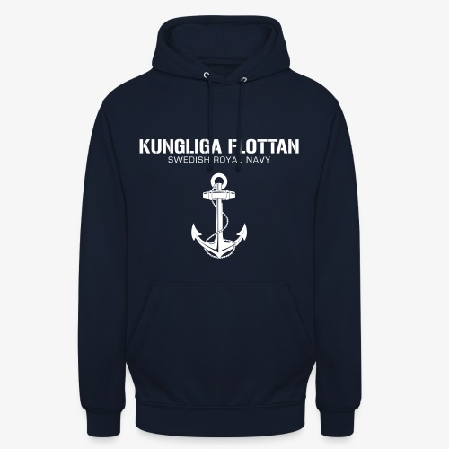 Kungliga Flottan - Swedish Royal Navy - ankare - Luvtröja unisex