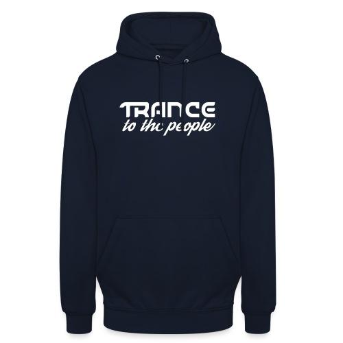 Trance to the People Hvidt Logo - Hættetrøje unisex