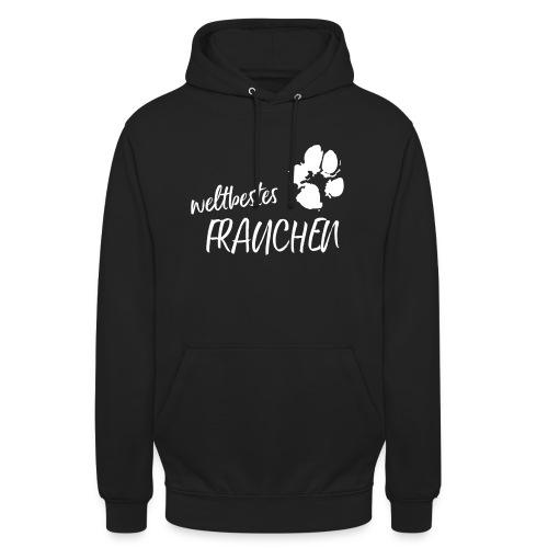 Vorschau: weltbestes Frauchen Pfote Hund - Unisex Hoodie