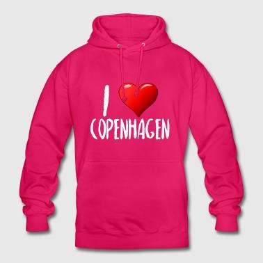 Ti amo Copenhagen - Felpa con cappuccio unisex