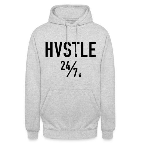 HVSTLE 24/7 Hoodie - Black Font - Unisex Hoodie