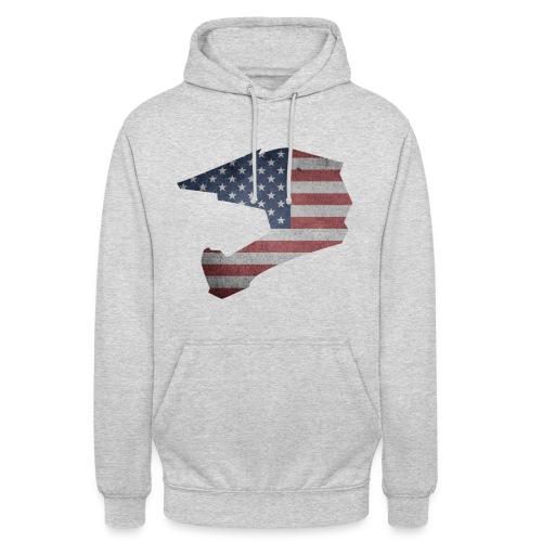 DOWNHILL HELM USA STYLE - Unisex Hoodie