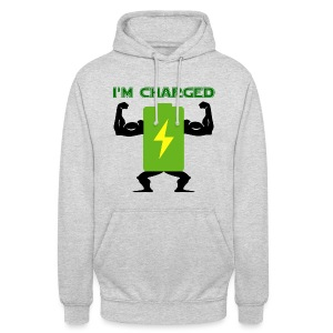Battery charged - Sudadera con capucha unisex