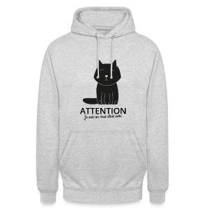 Chat noir - Sweat-shirt à capuche unisexe