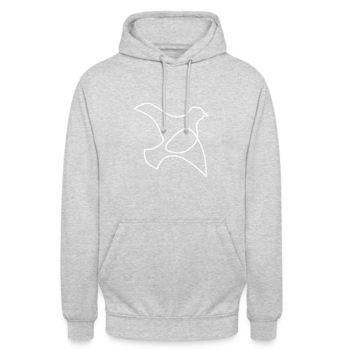 oP-Friedenstaube minimalistisch weiss - Unisex Hoodie