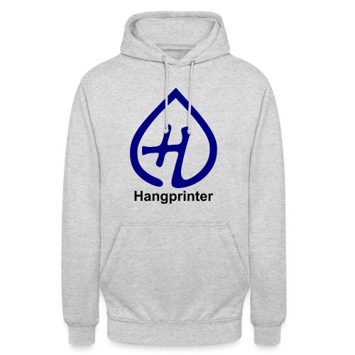 Hangprinter logo and text - Luvtröja unisex