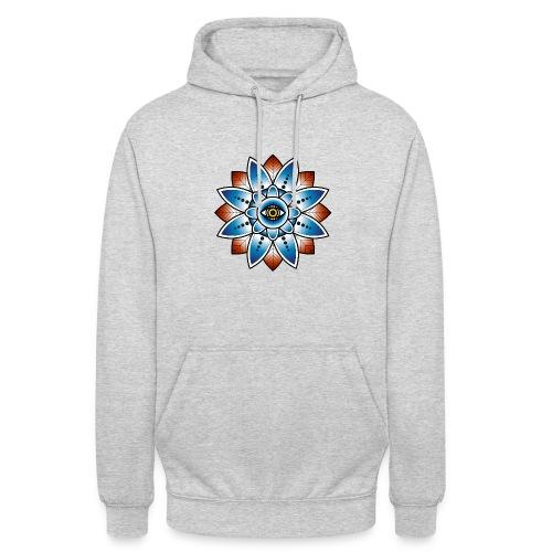 Psychedelisches Mandala mit Auge - Unisex Hoodie