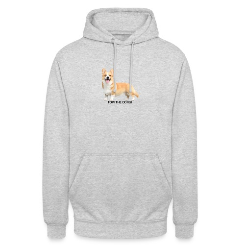 Topi the Corgi - Black text - Unisex Hoodie