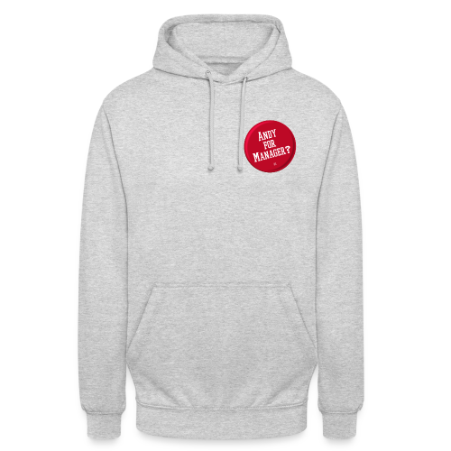 Andy for manager? - Sudadera con capucha unisex