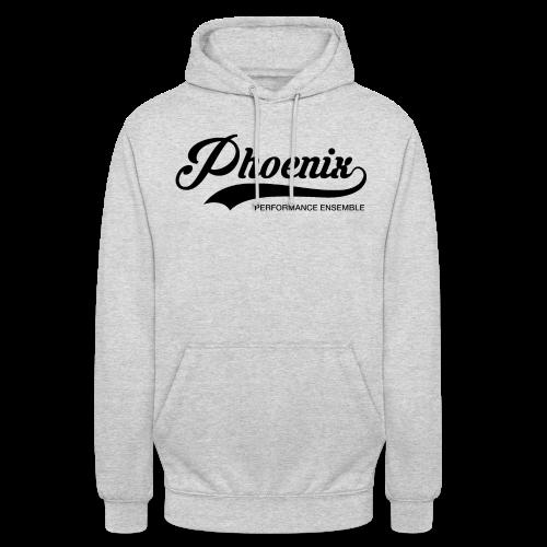 Phoenix Retro Black - Unisex Hoodie