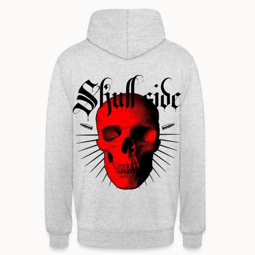 Skull side red - Unisex Hoodie