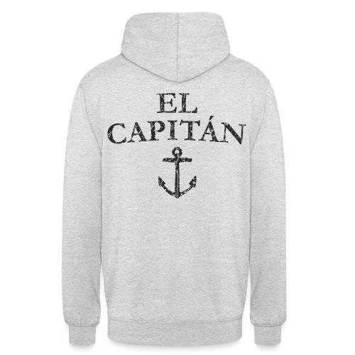 El Capitan Anker (Vintage Schwarz) Kapitän Käpt'n - Unisex Hoodie