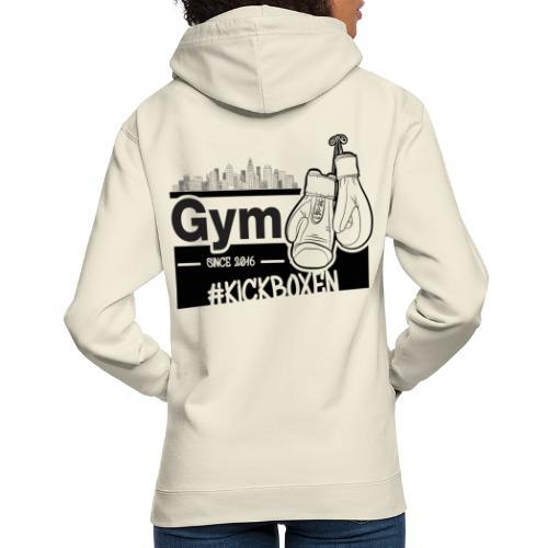 Gym in Druckfarbe schwarz - Unisex Hoodie