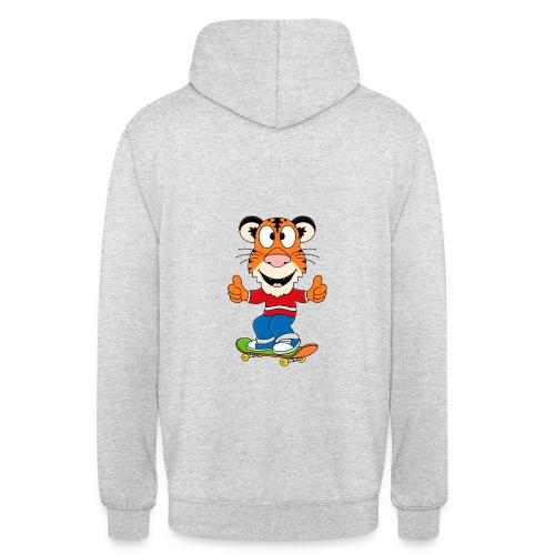 Lustiger Tiger - Skateboard - Sport - Kids - Baby - Unisex Hoodie