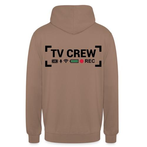TV Crew - Felpa con cappuccio unisex