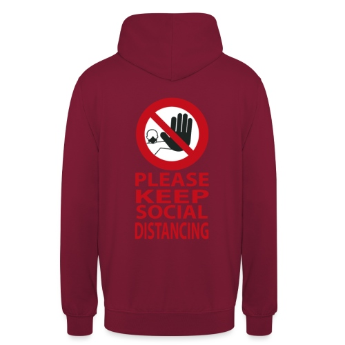 PLEASE KEEP SOCIAL DISTANCING - Felpa con cappuccio unisex