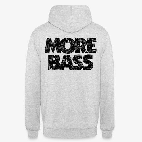 More Bass (Vintage/Schwarz) Bassist Bassisten - Unisex Hoodie