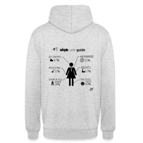ADOPTE UNE GUIDE! (noir) - Sweat-shirt à capuche unisexe