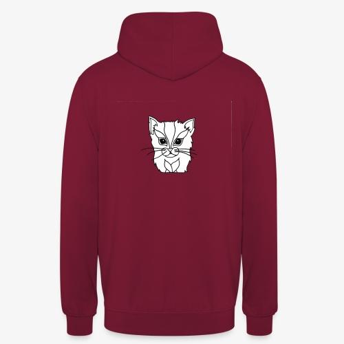 designchatblanc - Sweat-shirt à capuche unisexe