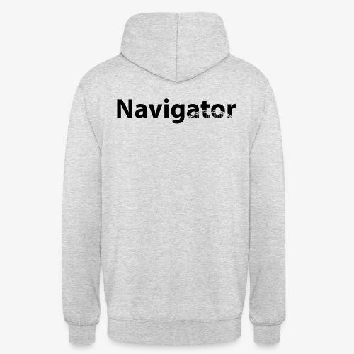 Navigator zwart merch - Hoodie unisex