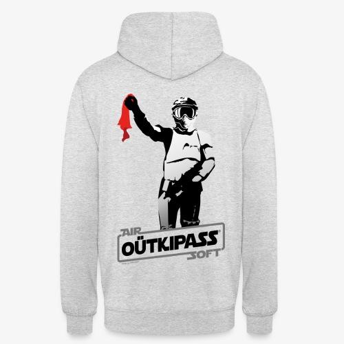 OutKipass Gris Chiné - Sweat-shirt à capuche unisexe