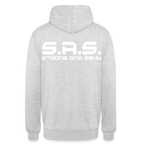 strong and sexy white - Hoodie unisex