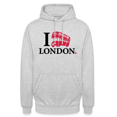 I love (Double-decker bus) London - Unisex Hoodie